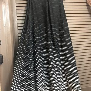 Lbisse Dresses - Lbisse black white polka dot size L swing dress